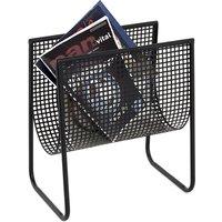 Ridgefield Metal Magazine Rack In Black