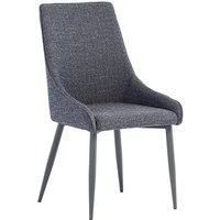 Product photograph showing Rimini Fabric Dining Chair In Blue