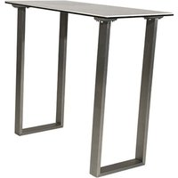 Product photograph showing Rocca Ceramic And Glass Console Table With Steel Base