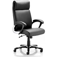 Product photograph showing Romeo Leather Executive Folding Office Chair In Black