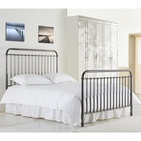 Rose Classic Metal Single Bed In Black Nickel