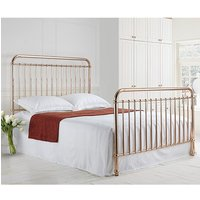 Rose Classic Metal Single Bed In Rose Gold