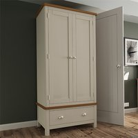 Product photograph showing Rosemont Wooden 2 Doors 1 Drawer Wardrobe In Dove Grey