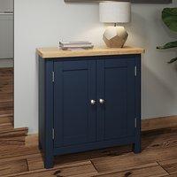 Rosemont Wooden 2 Doors Sideboard In Dark Blue