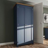 Product photograph showing Rosemont Wooden 2 Doors Wardrobe In Dark Blue