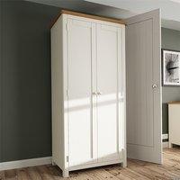 Product photograph showing Rosemont Wooden 2 Doors Wardrobe In Dove Grey