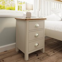 Rosemont Wooden 3 Drawers Bedside Cabinet In Dove Grey