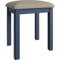 Product photograph showing Rosemont Wooden Dressing Stool In Dark Blue