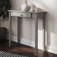 Product photograph showing Rosewood Wooden 1 Drawer Console Table In Grey