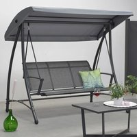 Product photograph showing Rubins 3 Seater Swing Seat In Carbon Black
