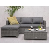 Product photograph showing Rudesole Sofa Group With Coffee Table In Organic Grey