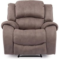 Product photograph showing Ryan Textured Fabric 1 Seater Electric Recliner Chair In Smoke