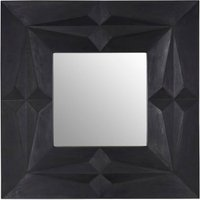 Product photograph showing Sabara Wall Bedroom Mirror In Black Frame
