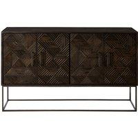 Nosaxa Wooden Sideboard In Grey With 4 Doors
