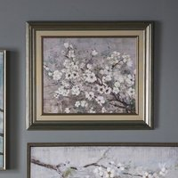 Product photograph showing Florid Framed Wall Art In Floral Print