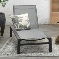 Product photograph showing Saltake Sun Lounger In Carbon Black