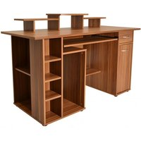 Product photograph showing San Diego Wooden Computer Desk In Walnut