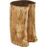 Product photograph showing Santorini Acacia Wooden Stool In Brown