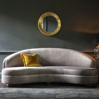 Product photograph showing Sanza Velvet Upholstered 3 Seater Sofa In Grey