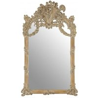 Product photograph showing Sarnia Baroque Design Wall Bedroom Mirror In Muted Ivory Frame