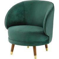image-Savannah Soft Velvet Bedroom Chair In Forest Green