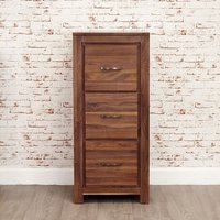 Product photograph showing Sayan Wooden Filing Cabinet In Walnut With 3 Drawers