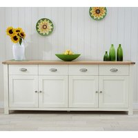Schedar Extra Large Wooden Sideboard In Oak And Cream