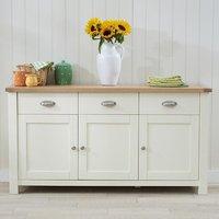 Schedar Large Wooden Sideboard In Oak And Cream