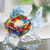 Product photograph showing Seafish Glass Design Sculpture In Multicolor