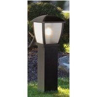 Product photograph showing Seattle Outdoor Clear Acrylic Tall Post Light In Black