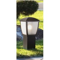 Product photograph showing Seattle Outdoor Post Light In Black With Clear Acrylic Panels