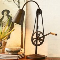 Product photograph showing Secundus Cycle Chain Stand Table Lamp