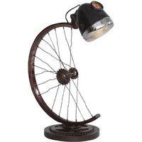 Product photograph showing Secundus Half Cycle Wheel Table Lamp