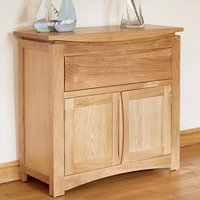 Seldon Contemporary Compact Sideboard In Oak With 2 Doors