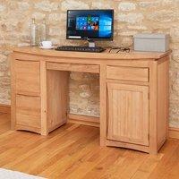image-Seldon Wooden Computer Desk Rectangular In Oak