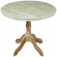 Senegal Contemporary Wooden Dining Table Round In Oak