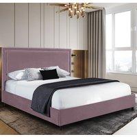 Sensio Plush Velvet Single Bed In Pink
