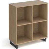 Sevan Low Wooden Shelving Unit In Kendal Oak With 4 Shelves