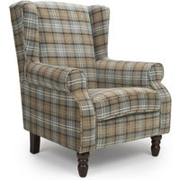Product photograph showing Shetland Fabric Upholstered Lounge Chair In Dove Grey