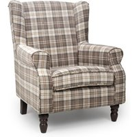 Product photograph showing Shetland Fabric Upholstered Lounge Chair In Latte