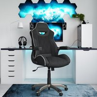 Product photograph showing Silverstone Faux Leather Gome And Office Chair In Black