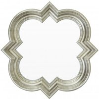Product photograph showing Sims Arabesque Design Wall Mirror In Weathered Silver Frame