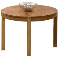 Skat Round Wooden Dining Table In Oak