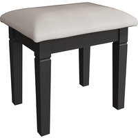 Product photograph showing Skokie Wooden Dressing Stool In Midnight Grey