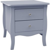 Skyler Wooden Bedside Cabinet In Grey With 2 Drawers
