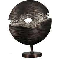 Product photograph showing Slice Aluminium Sculpture In Wenge And Silver