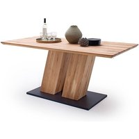Sofia Large Wooden Swiss Edge Top Dining Table In Solid Oak