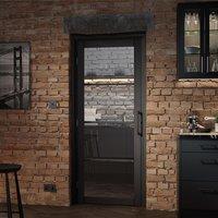 Soho Glazed 1981mm x 838mm Internal Door In Dark Charcoal