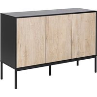 Product photograph showing Sparks Wooden 3 Doors Sideboard In White Oak