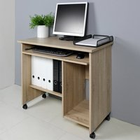image-Spectral Wooden Computer Desk In Sonoma Oak
